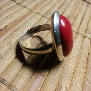 Sterling Silver Ring Carnelian